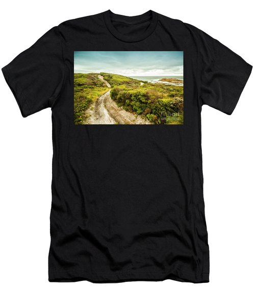 Remote Australia Beach Trail Men's T-Shirt (Athletic Fit)