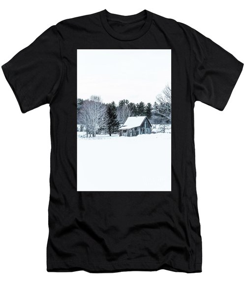 Remote Cabin In Winter Men's T-Shirt (Athletic Fit)