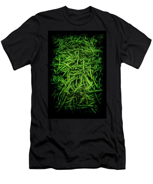 Men's T-Shirt (Athletic Fit) featuring the photograph Renaissance Green Beans by Jennifer Wright