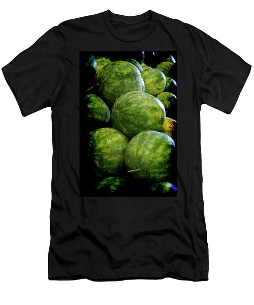 Men's T-Shirt (Athletic Fit) featuring the photograph Renaissance Green Watermelon by Jennifer Wright