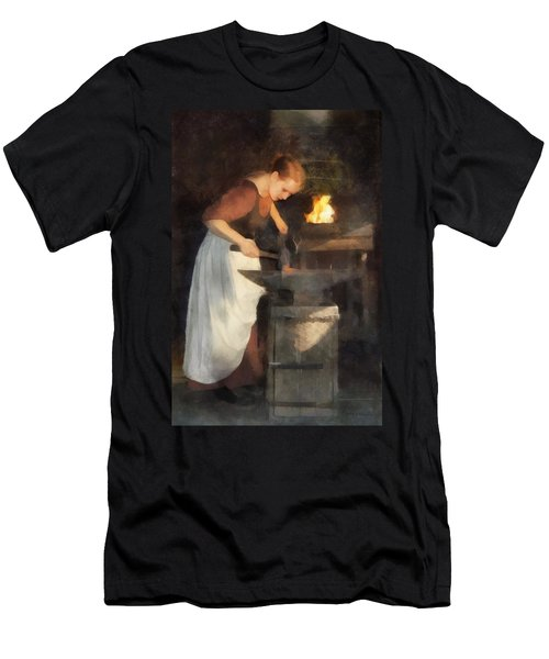 Renaissance Lady Blacksmith Men's T-Shirt (Athletic Fit)