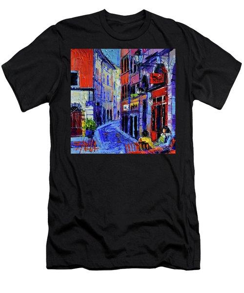 Rendez Vous In Vieux Lyon Men's T-Shirt (Athletic Fit)