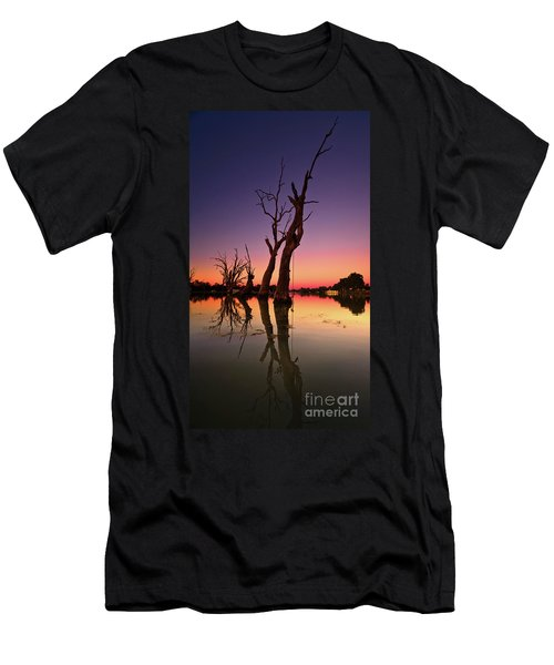 Renmark South Australia Sunset Men's T-Shirt (Slim Fit) by Bill Robinson