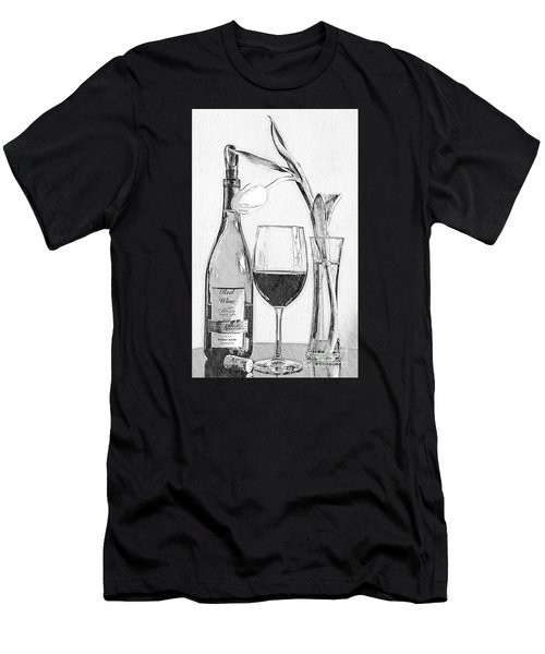Reserved Table For One In Black And White Men's T-Shirt (Athletic Fit)