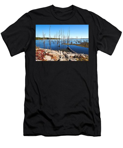 Men's T-Shirt (Athletic Fit) featuring the photograph Reservoir by Angel Cher