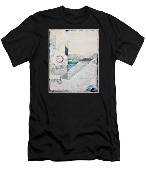 Men's T-Shirt (Athletic Fit) featuring the painting Reservoir  by Cliff Spohn