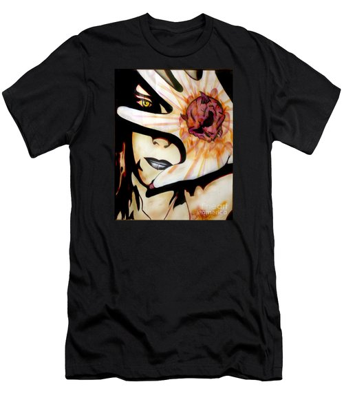 Men's T-Shirt (Slim Fit) featuring the painting Resistance by Tbone Oliver