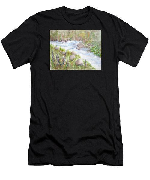 Rest By My Waters Men's T-Shirt (Athletic Fit)