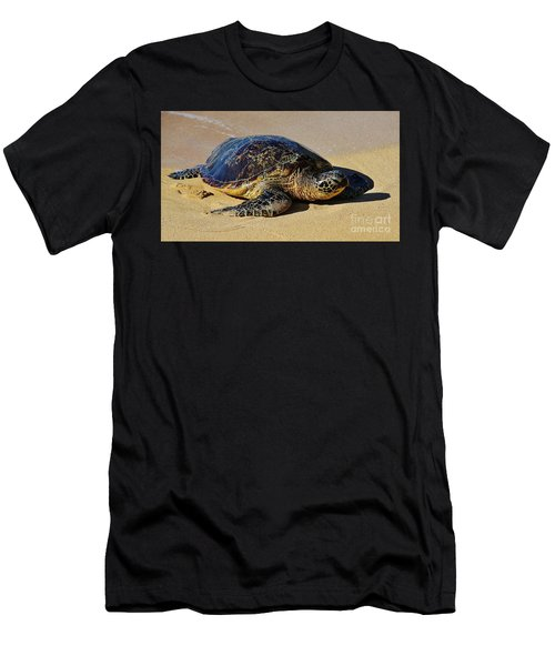 Men's T-Shirt (Slim Fit) featuring the photograph Resting Sea Turtle by Craig Wood