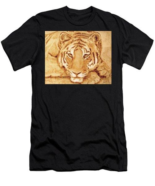 Resting Tiger Men's T-Shirt (Athletic Fit)