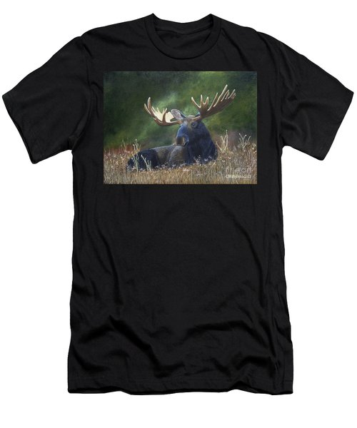 Men's T-Shirt (Athletic Fit) featuring the painting Resting by Tracey Goodwin