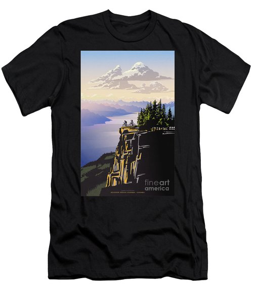 Retro Beautiful Bc Travel Poster Men's T-Shirt (Athletic Fit)