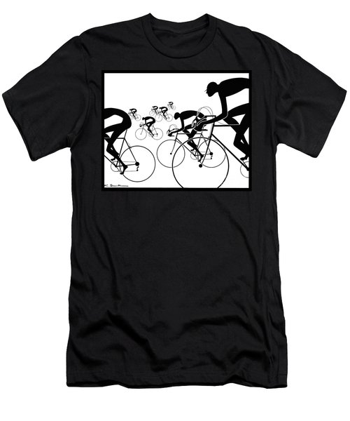 Retro Bicycle Silhouettes 1986 Men's T-Shirt (Athletic Fit)