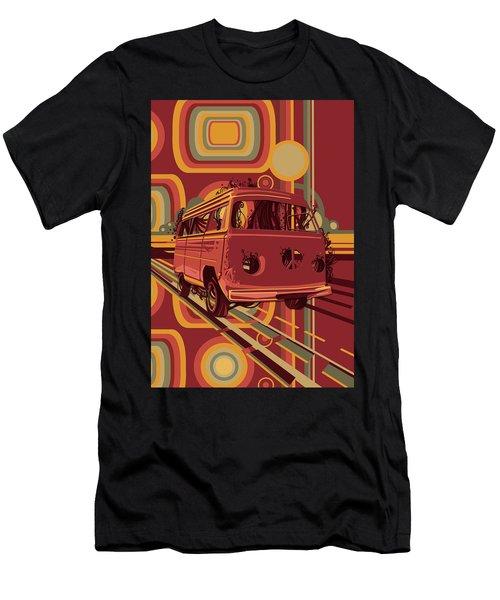 Retro Camper Van 70s Men's T-Shirt (Athletic Fit)