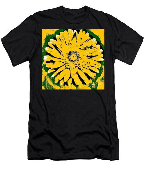 Retro Daisy Men's T-Shirt (Slim Fit) by Marsha Heiken