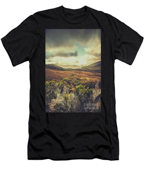 Retro Scenic Wilderness Men's T-Shirt (Athletic Fit)