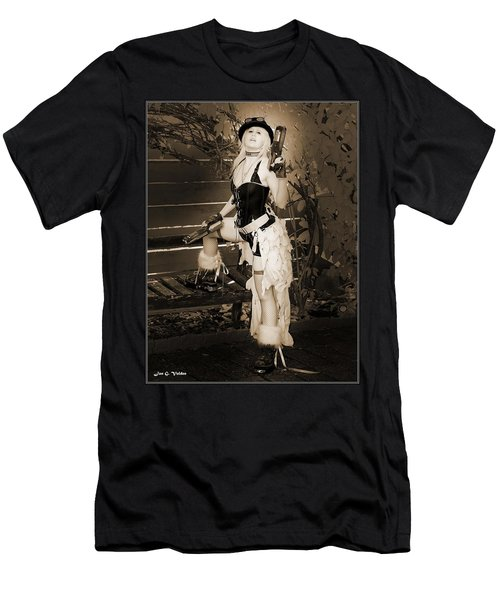 Retro Steam Punk Vixen Men's T-Shirt (Athletic Fit)