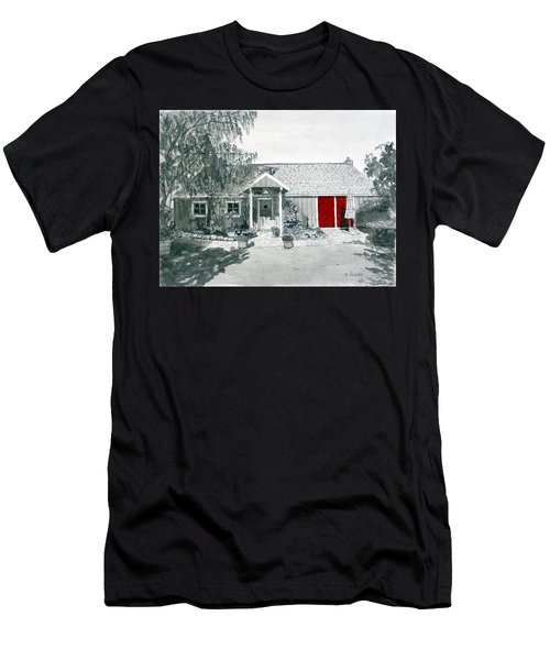 Retzlaff Winery With Red Door No. 2 Men's T-Shirt (Athletic Fit)
