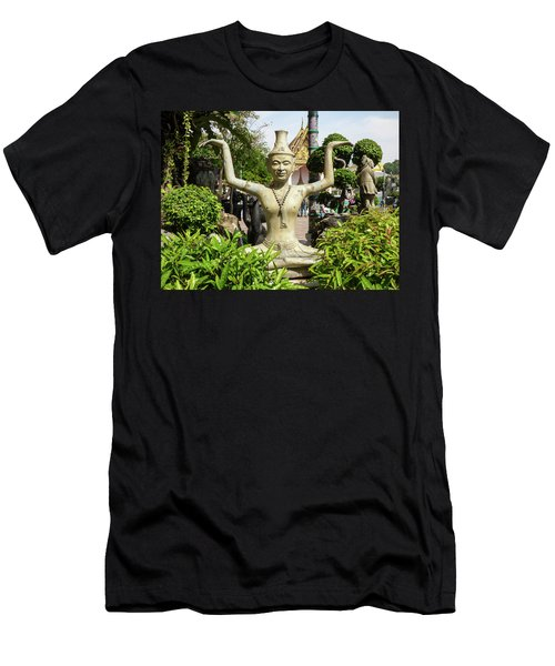 Reusi Dat Ton Statue At Famous Wat Pho Temple Men's T-Shirt (Athletic Fit)