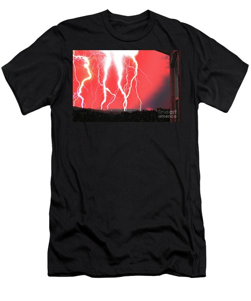 Lightning Apocalypse Men's T-Shirt (Athletic Fit)