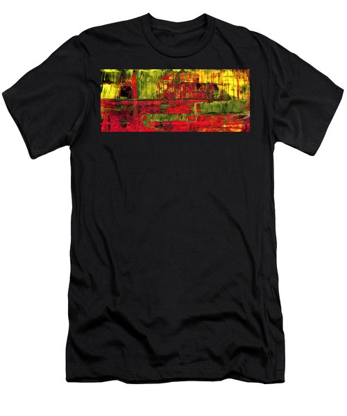 Summer Rain  - Abstract Colorful Mixed Media Painting Men's T-Shirt (Athletic Fit)
