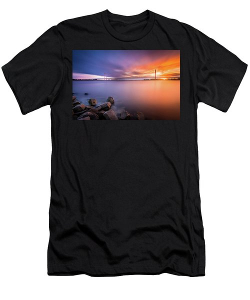 Rhine Bridge Sunset Men's T-Shirt (Athletic Fit)