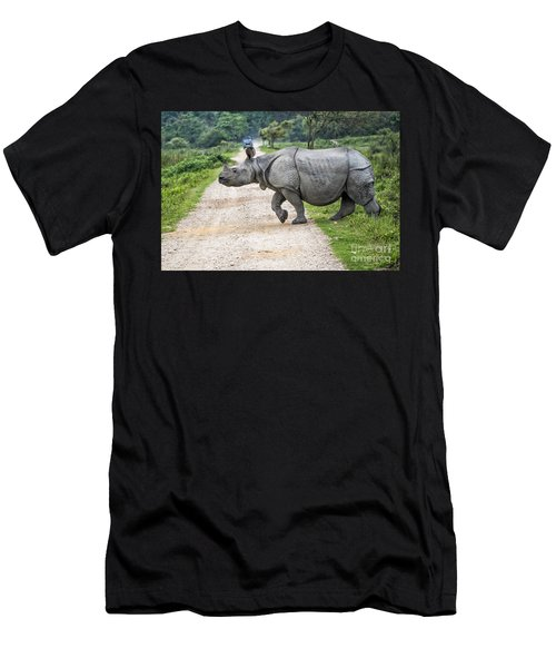 Rhino Crossing Men's T-Shirt (Athletic Fit)