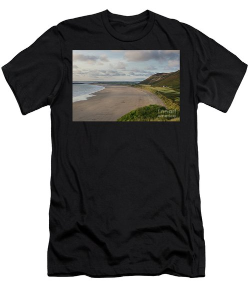 Rhossili Bay, South Wales Men's T-Shirt (Athletic Fit)