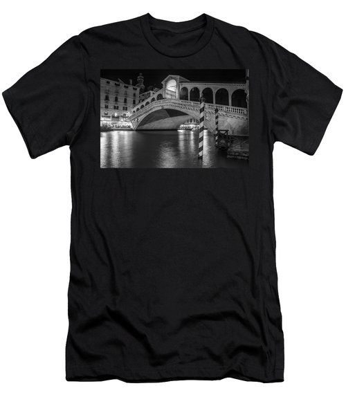 Rialto Bridge Black And White  Men's T-Shirt (Athletic Fit)