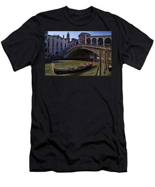 Rialto Bridge In Venice Italy Men's T-Shirt (Athletic Fit)