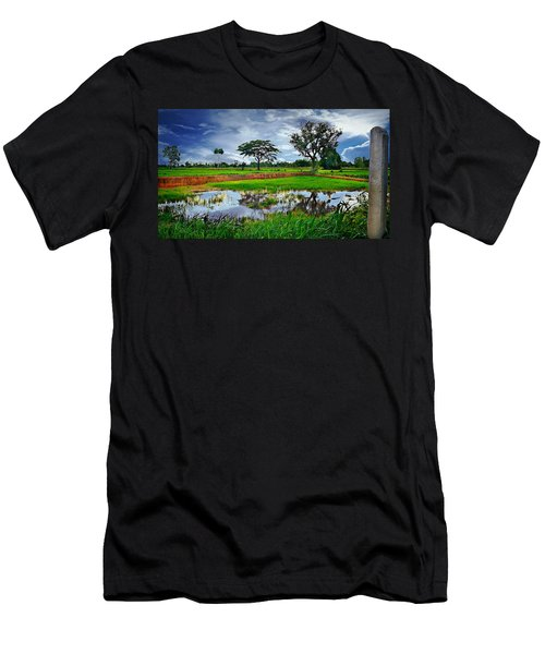 Rice Paddy View Men's T-Shirt (Athletic Fit)