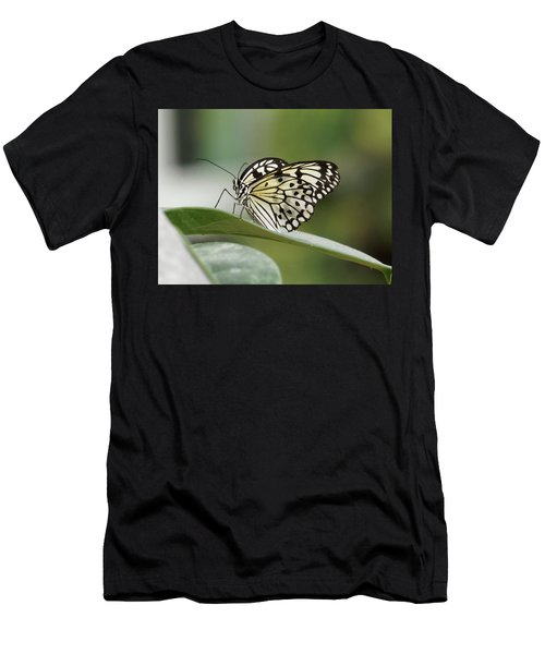 Men's T-Shirt (Athletic Fit) featuring the photograph Rice Paper Butterfly - 2 by Paul Gulliver