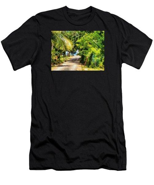 Rich Green Path Men's T-Shirt (Athletic Fit)