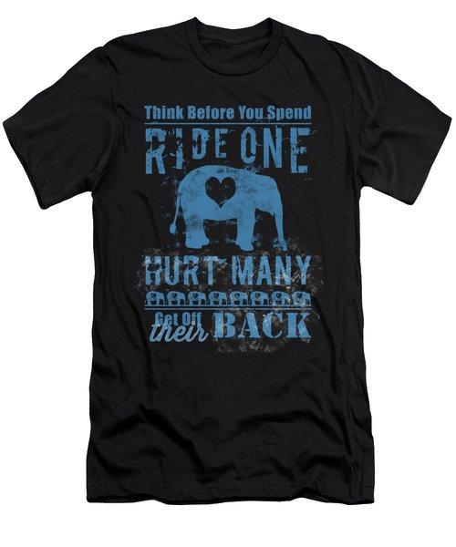 Ride One Elephant Hurt Many Men's T-Shirt (Athletic Fit)