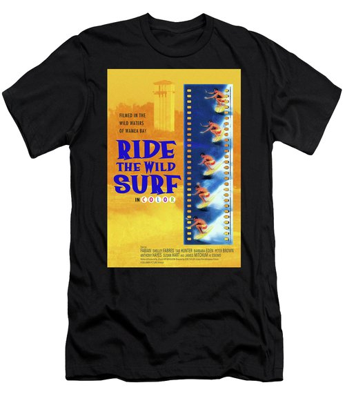 Ride The Wild Surf Vintage Movie Poster Men's T-Shirt (Athletic Fit)