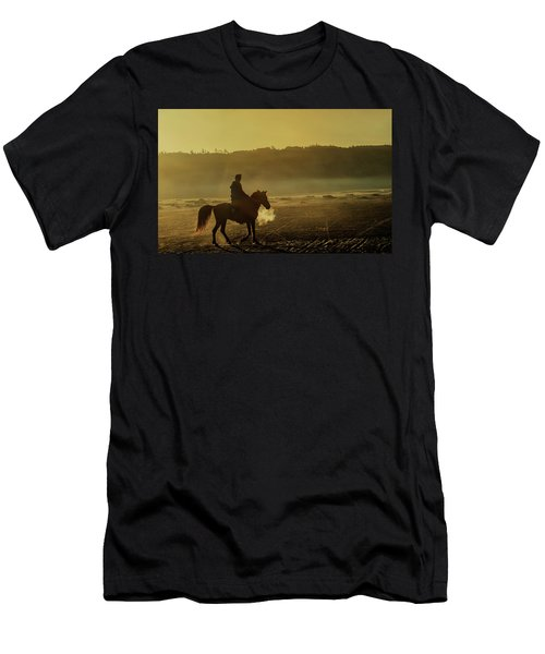 Men's T-Shirt (Athletic Fit) featuring the photograph Riding His Horse by Pradeep Raja Prints