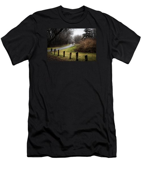 Riding Into The Fog Men's T-Shirt (Athletic Fit)