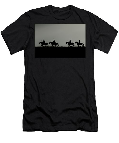 Riding The Range At Sunrise Men's T-Shirt (Athletic Fit)