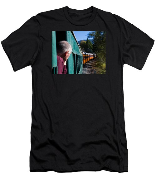 Riding The Train 8x10 Men's T-Shirt (Athletic Fit)
