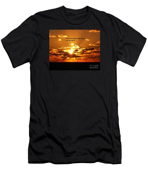 Riding The Wind Men's T-Shirt (Slim Fit) by Gary Wonning