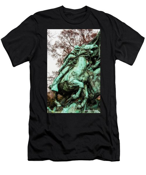 Men's T-Shirt (Slim Fit) featuring the photograph Riding Tight by Christopher Holmes