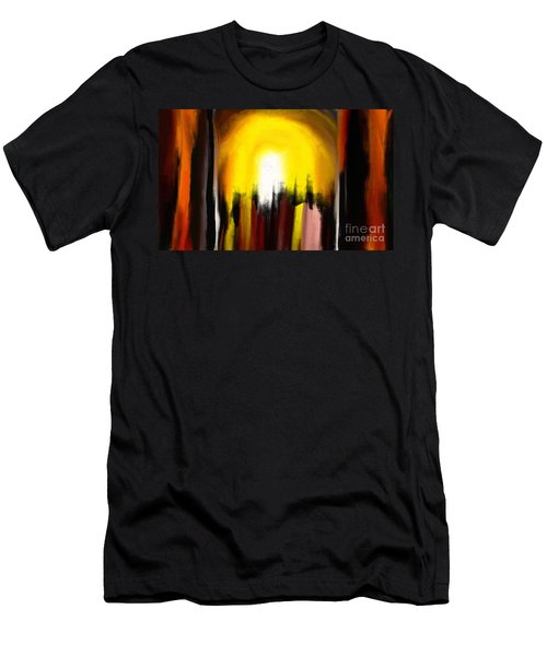 Men's T-Shirt (Slim Fit) featuring the painting Right Way by Rushan Ruzaick