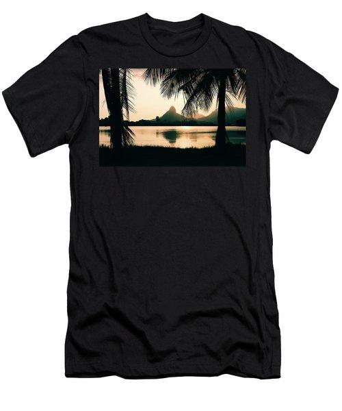 Rio De Janeiro, Brazil Landscape Men's T-Shirt (Athletic Fit)