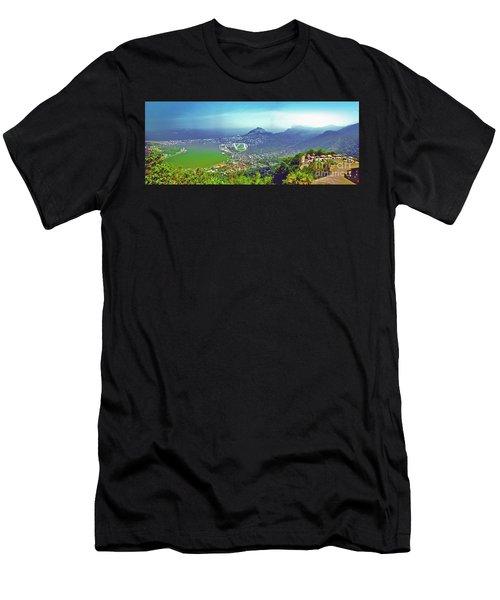 Rio De Janeiro Brazil Panorama Men's T-Shirt (Athletic Fit)