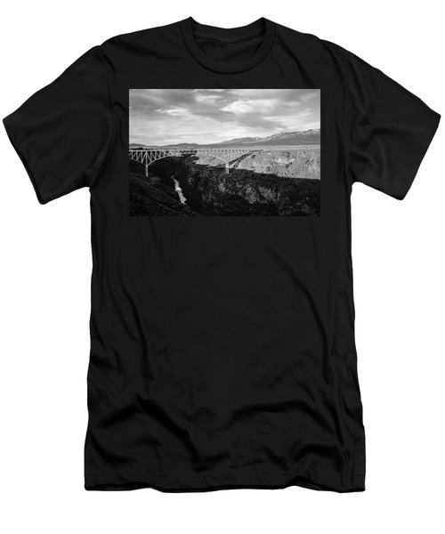 Men's T-Shirt (Slim Fit) featuring the photograph Rio Grande Gorge Birdge by Marilyn Hunt