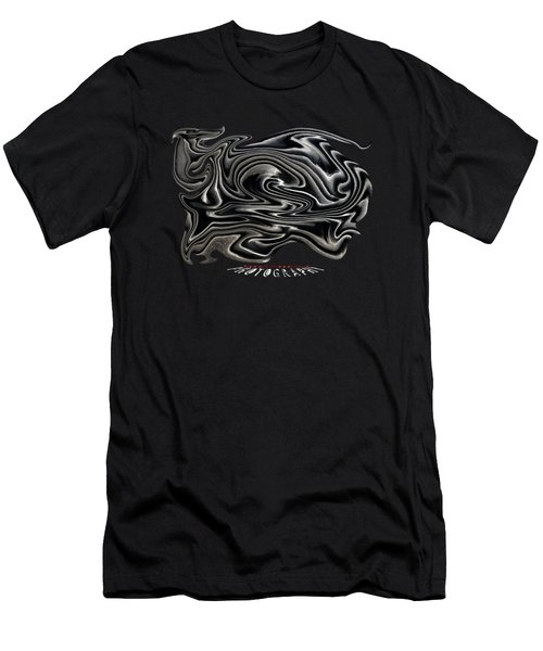 Rippled Ripples Transparency Men's T-Shirt (Athletic Fit)