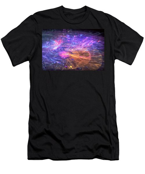 Men's T-Shirt (Athletic Fit) featuring the digital art Ripples by Michal Dunaj