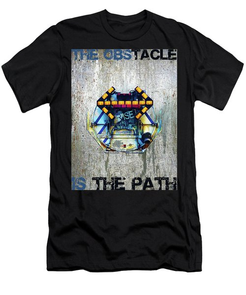 Rise The Obstacle Is The Road Men's T-Shirt (Athletic Fit)