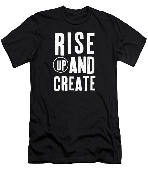 Rise Up And Create- Art By Linda Woods Men's T-Shirt (Slim Fit) by Linda Woods