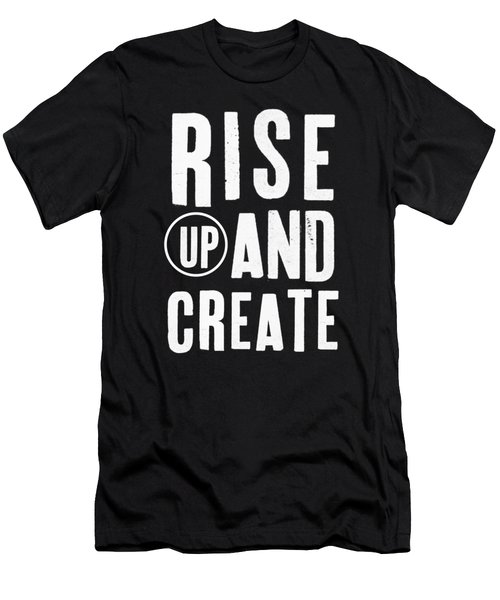 Rise Up And Create- Art By Linda Woods Men's T-Shirt (Athletic Fit)